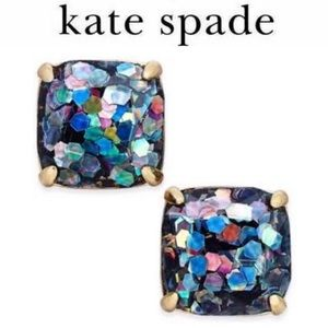 Kate Spade Square Glitter Stud Earrings